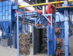 Qd37 Foundry Industry のハンギングチェーンタイプショットブラストマシン 鉄部品およびアルミ鋳物 / 金属表面洗浄装置用