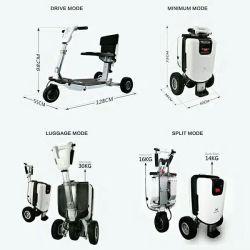 منافس من الوزن الخفيف كرسيّ ذو عجلات إتفاق [فولدبل] أبيض حالة عجز حركيّة [سكوتر] أبيض يستطيع حمّلت [330لبس] - [إيموفينغ]