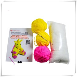 En71, das Kind-pädagogischen SpielwarenDIY Knit-Tier-Installationssatz anfüllt