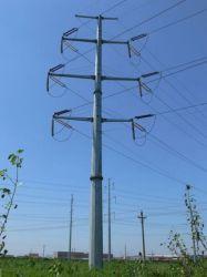 Banheira médios electricidade galvanizado a linha de transmissão pólo siderúrgico Tower