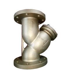 La fonte ductile API industriel en acier inoxydable/ ANSI Pn16 de type Y de la crépine du filtre à bride vanne 3PC Clapet à bille de vanne de couteau