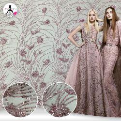 Sequin robe de mariée de broderie paillettes Sequin dentelle de tissu