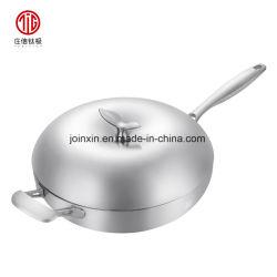Vente à chaud en acier inoxydable de titane Nonstick chinois wok cuisson Cook Pan