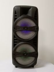 Два 8-дюймовых Wireless Bluetooth аккумулятор акустическая система с красочными лампа