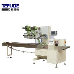 Tefude tres de alta velocidad de flujo de material Pakcaging Servo Wrapper de máquina de envasado horizontal rollo