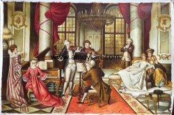 Королевский ручной работы рисунок жизни классической картины маслом для монтажа на стену оформление