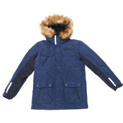 Os homens à prova da moda casaco de inverno com Capuz ajustável (revestimento TPU)