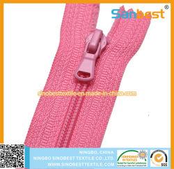 Fermeture éclair en nylon avec extrémités fermées 2 contacts