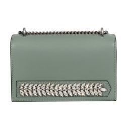 Sacchetto di spalla verde del Rhinestone delle signore