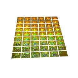 Drucken-nach Maß preiswertes Hologramm-glatter Vinylaufkleber
