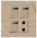 Три открыть два отверстия разъема переключателя панели 3+1