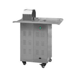 Comercial de acero inoxidable de alta capacidad eléctrica automática/manual atado con carcasa de salchicha salchicha máquina encuadernadora de la máquina de torsión