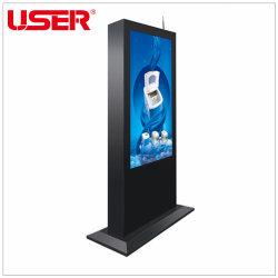 """Fußboden-Standplatz 43 '' 49 '' 55 '' 65 """" hohe Helligkeits-im Freien vertikale Digitalsignage-Totem WiFi Note LCD, die Bildschirmanzeige-Kiosk-Screen-Monitor mit Android bekanntmacht"""