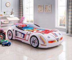 Adorável Kids moderno cartoon Race Car cama de design de mobiliário crianças cama para venda