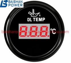 Générateur diesel de jauge de pression d'huile d'affichage numérique de l'installation dia 52mm de la machinerie de construction de la tension de tachymètre tr/min voltmètre Volt Jauge de température d'huile de compteur horaire