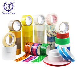 Bande adhésive de scellage d'expédition en carton personnalisé BOPP Package adhésif acrylique couleur du ruban adhésif de l'OPP avec logo imprimé