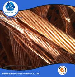 Alta calidad de chatarra de cable de cobre barato/ Puro cobre 99,99% /Tubo de cobre y chatarra de cobre brillante 99,95