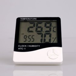 Higrómetro poco Gadget Termómetro digital para medir la temperatura HTC-1