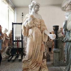 Home Decor statue de pierre Lady sculpture en marbre (GSS-202)