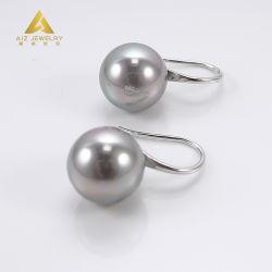 Commerce de gros La fabrication de bijoux Fashion 925 Sterling Silver Jewellery Hoop Earrings avec Pearl