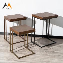 Neuer Ankunfts-Wohnzimmer-moderner Edelstahl-hölzerner seitlicher Tisch