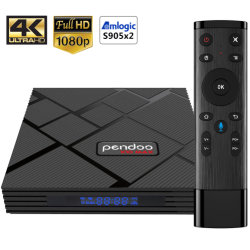 X10 Pendoo Max International Best Custom Set Top Box 4 Go et 32 Go convertisseur TV Ott Smart 4K Android TV Box