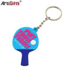 Kundenspezifische weicher Belüftung-Tischtennis-Schläger-Schlüsselkette