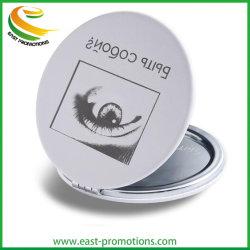 Пользовательские рекламные двойные боковые металлические Тин зеркалом карман компактный наружного зеркала заднего вида для подарков