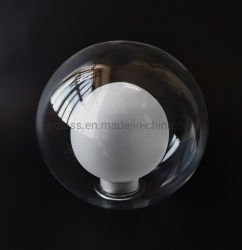 Fait main en verre borosilicaté dépoli G9/E27 vis Globe Lampe en verre double paroi de l'ombre