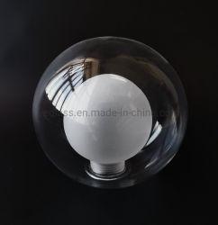 Handgemachter bereifter Schrauben-doppel-wandige Kugel-Glaslampen-Farbton des Borosilicat-Glas-G9/E27