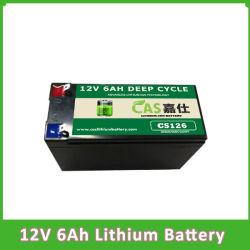 LiFePO4 batteria di litio della batteria 12V 6ah per il ventilatore elettrico chiaro solare