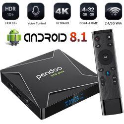 인조 인간 9.0 더하기 Amlogic S905X2 4K 4GB DDR4 렘 32g ROM Kodi 18.0 지능적인 텔레비젼 상자 10 플러스 고정되는 최고 상자 Pendoo X10