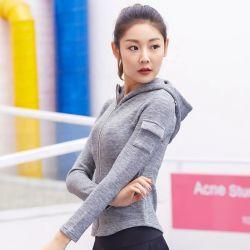 Novo Design Personalizado 2019 Mulheres Ioga Zipper coletes de capuz vestuário de desporto feminino