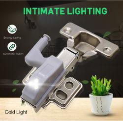 캐비닛 아래 LED 조명 범용 옷장 조명 센서 LED 아마리오 벽장 벽장 부엌용 내부 힌지 램프