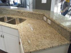 Granito naturale di Giallo Fiorito del granito per il controsoffitto della cucina