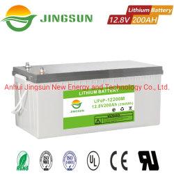 12V Levering van de Bank van de Macht van de Batterij van het Lithium LiFePO4 van het Lithium 200ah van 100ah de Ionen Navulbare
