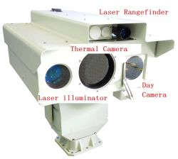 Militares Sensor múltiplo IP de Vigilância de Imagem Térmica Câmera com laser de alta definição Noite Câmara de visão e o laser telémetro