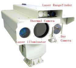 HDレーザーの夜間視界のカメラおよびレーザーの距離計が付いているマルチセンサーの監視IPの赤外線画像のカメラ