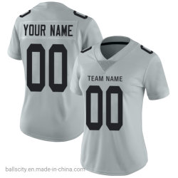 網ポリエステルカスタムロゴ番号女性のフットボールのスポーツ・ウェアのラグビーのジャージ