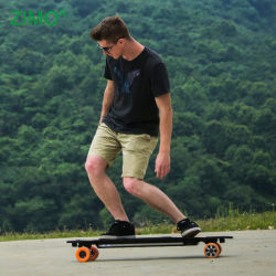 Barato à prova de Motor Duplo fora estrada All Terrain Longboard Skate elétrico com controle remoto