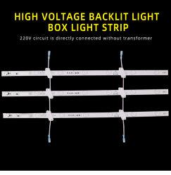 Luz de reflexão difusa Bar 3030 de alta tensão da luz de fundo da lente 220V Ultra-Thin Publicidade Caixa de luz de fundo da barra de luz de obturador Destaque Bar