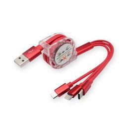 Multi Kabel Intrekbare 3 van de Lader USB in 1 Veelvoudig het Laden Koord 3 in 1 Kabel van de Lader