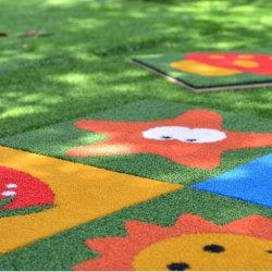 Alfombra de césped Jardín Confortables para los niños paisaje de hierba artificial L40
