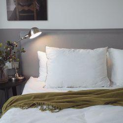 Carcasa de algodón Relleno de poliéster con ropa de cama almohadas (YFP005)