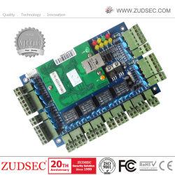 Controlador de acceso a la Puerta 4 con el software de gestión, la red TCP/IP el sistema de control de acceso