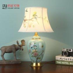 Lampada In Ceramica Rurale Decorativa Cinese Per La Lettura Della Camera Da Letto (Tl8071)
