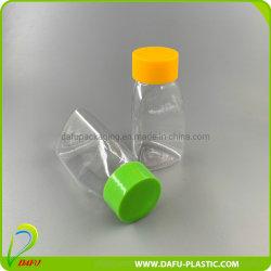 Dreieck-Form-Plastiksüßigkeit-Flasche des Haustier-35ml mit Plastikschutzkappe