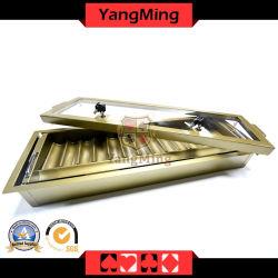 15 Reihen-Metallschürhaken-Chip-Tellersegment mit zwei Schicht-Schürhaken-Chip-Kasten mit Verschluss-Deckel Ym-CT15