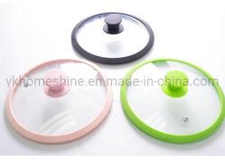 Cuisine Cuisine couleur au format personnalisé de couvercles en verre silicone universel Edge couvercle de casserole