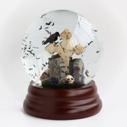 Custom пластиковые Хэллоуин тема снега земного шара в стиле Арт Деко